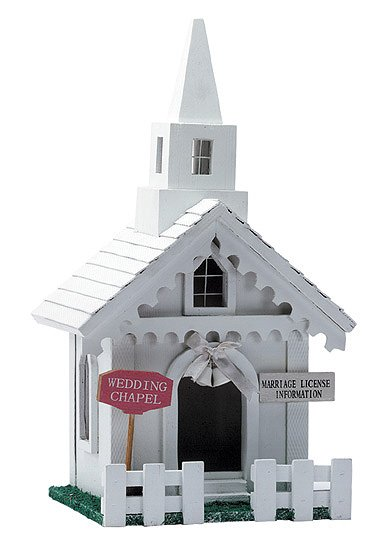 30706 Wedding Chapel Wood Birdhouse