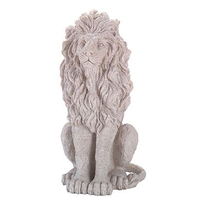31012 Alabastrite Stone-Finished Sitting Lion