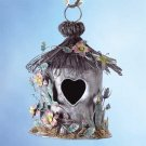 33813 Painted Metal Spring Hut Birdhouse