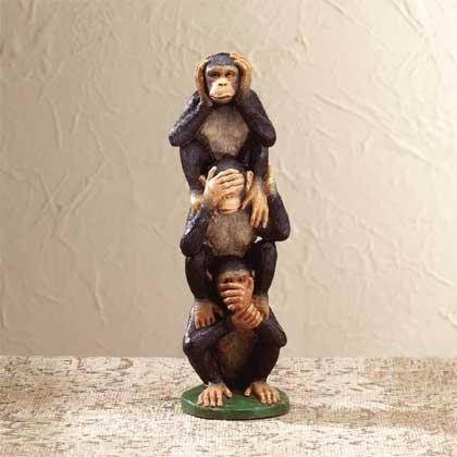 29586 Alabastrite Hear, See, Speak Monkeys