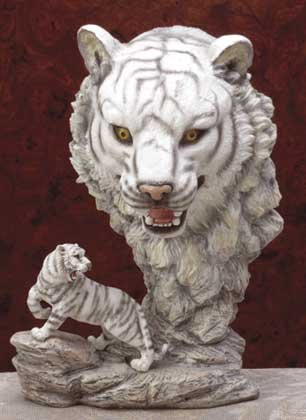 31404 Alabastrite White Tiger With Big Head View