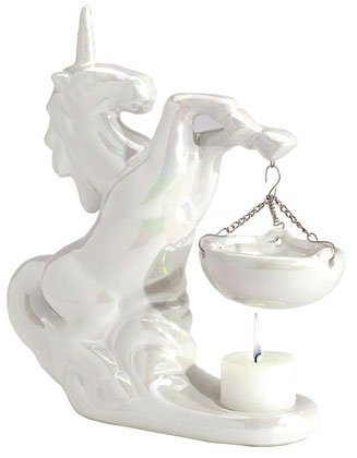 30126 Porcelain Oil Burner - Pearlized Unicorn
