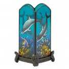35286 Dolphin Painted Candle Holder