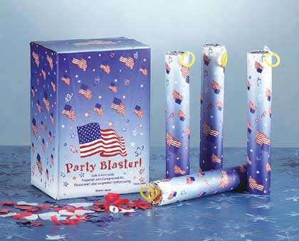 34537 1-Dozen Patriotic Party Poppers