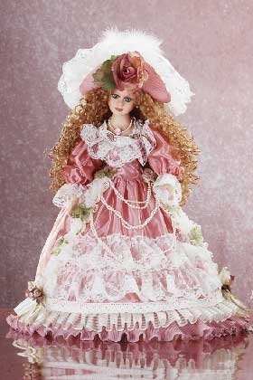 "29630 18"" Porcelain Victorian Doll - Desiree"