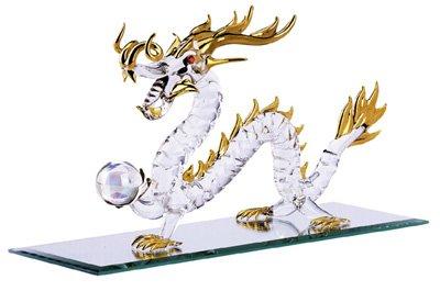 30306 Spun Glass Gold-Plated Dragon