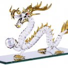 30306 Spun Glass Gold-Plated Dragon