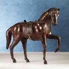 25302 Leather Horse With Saddle And Harness