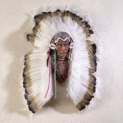 28407 Headdress Wall Plaque