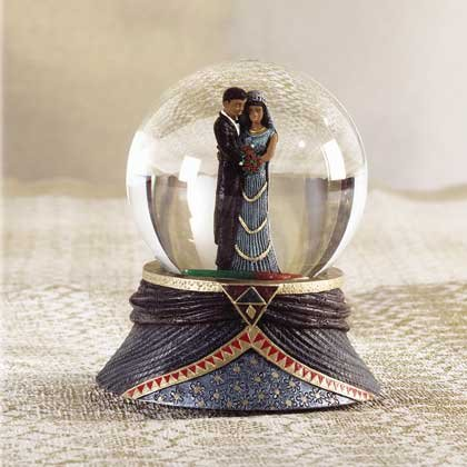 31113 Musical Alabastrite Waterball Afro-American Couple