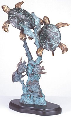 30152 Brass Turtles On Seabed
