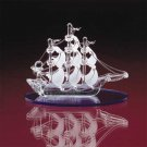 31457 Spun Glass Sail Boat With Blue Base