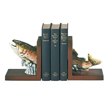 35132 Wood Trout Bookends