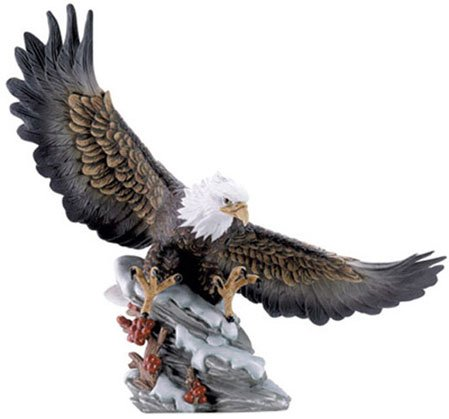 30846 Porcelain Eagle On Rock Base With Berries
