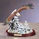 31056 Alabastrite Eagle Over Snowy Mountain