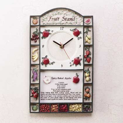 31178 Alabastrite Fruit Stand Wall Clock