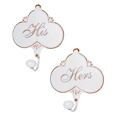 35523 His and Hers Towel Hangers