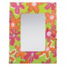 35550 Floral Framed Mirror