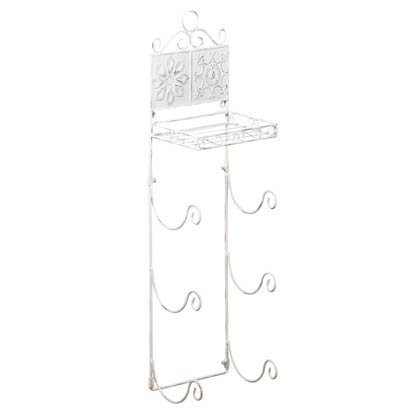 35662 Floral Tiled Towel Rack