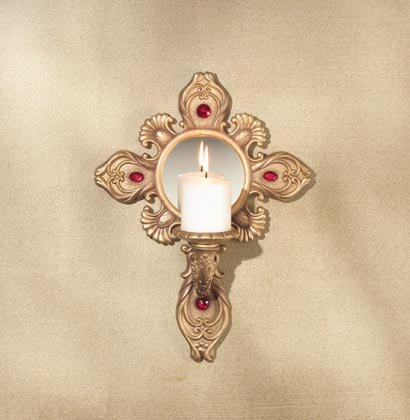 35555 Holy Cross Candleholder