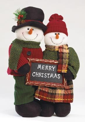 35711 Plush Standing Snowman Couple