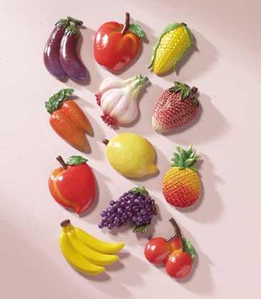 23742 Alabastrite Fruit & Veggie Magnetic Memo Holders (Retail - 1.99ea)