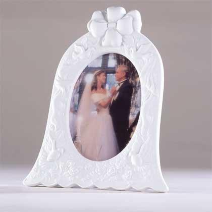 27122 Porcelain Wedding Bell-Shaped Photo Frame