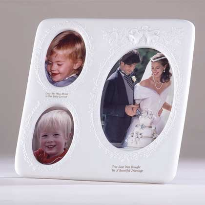 27123 White Porcelain Wedding Photo Frame