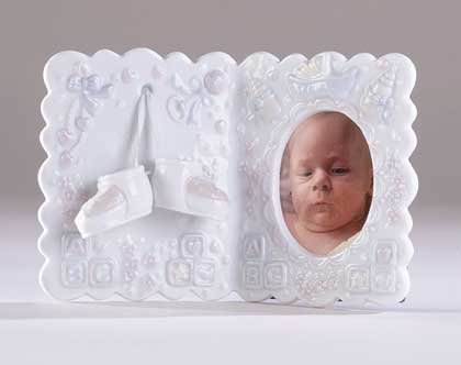 "27262 Under-Glazed Porcelain ""It's A Boy"" Photo Frame"