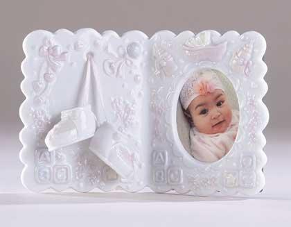 "27263 Under-Glazed Porcelain ""It's A Girl"" Photo Frame"