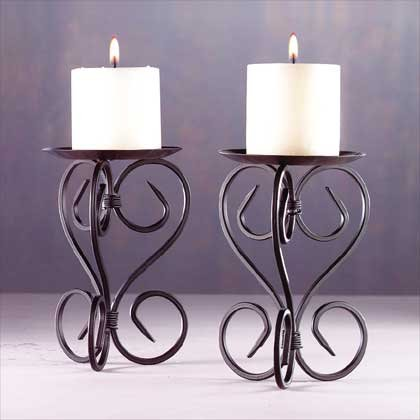 28234 Elegant Metal Candleholders