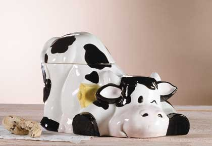 28273 Porcelain Cow Cookie Jar