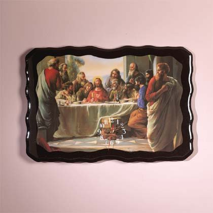 29488 Last Supper Wood Clock