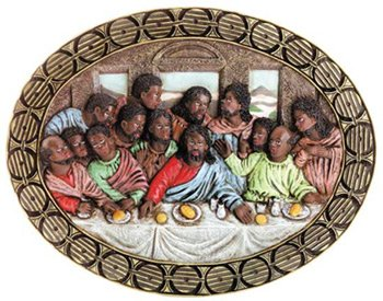 "30088 Alabastrite ""Last Supper"" Oval Plaque"