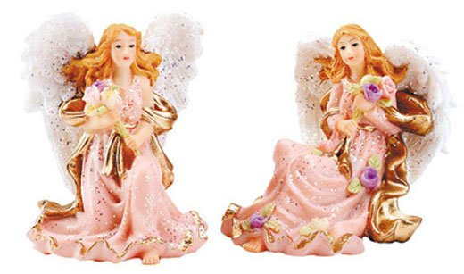30124 Alabastrite Mini Angel Pair