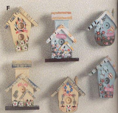 30210 Mini Birdhouse Magnetic Memo Holders