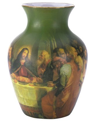 30226 Porcelain Patchwork Vase - Last Supper
