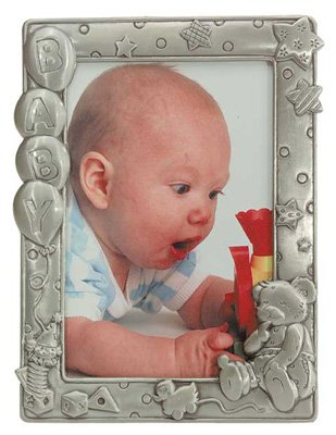 30244 Pewter-Finished Baby Frame