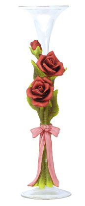 30272 Alabastrite Rose Glass Bud Vase