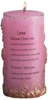 30451 Sculpted Rose Love Candle