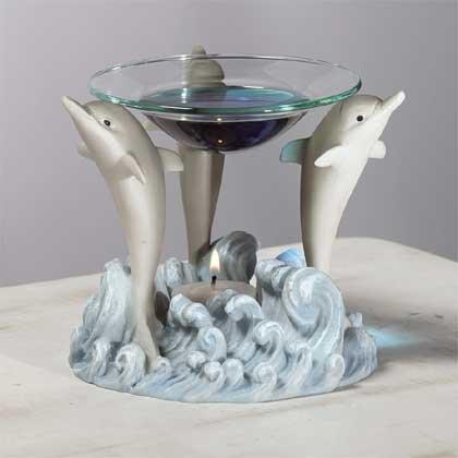 31116 Alabastrite Oil Burner - Dolphin Tripod