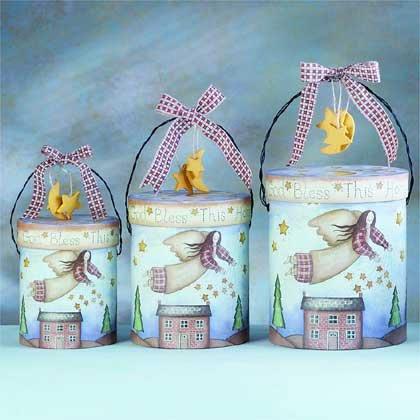 31187 3-Piece Angel Paper Gift Box