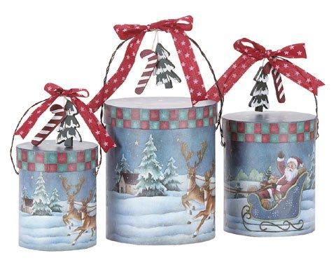 31188 3-Piece Santa Paper Gift Box