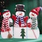 31191 3 Painted Wood Dressed Snowmen