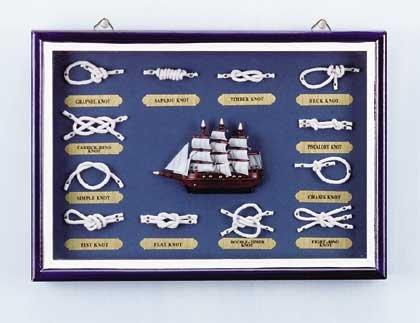 31231 Wood Nautical Shadow Box