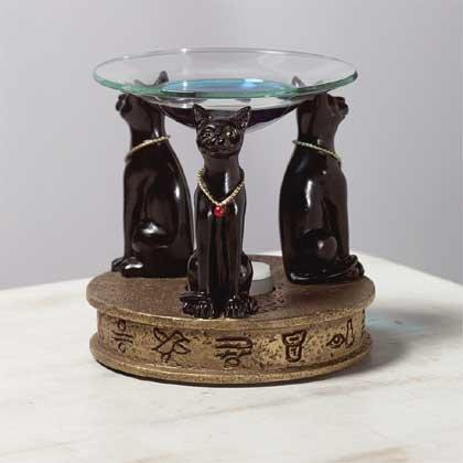 31335 Alabastrite Oil Burner - Temple Cat Tripot