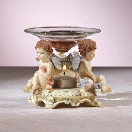 31388 Cherubs Oil Warmer