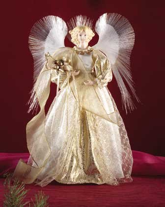31505 Porcelain Angel With Lighted Wings