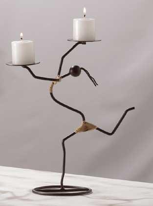 31573 African Tribal Dancer Candleholder