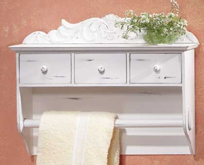 31583 Shabby Elegance Spice Towel Holder